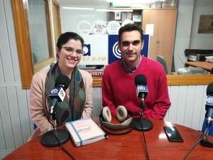 Antonio Sánchez, director técnico de CESUR Energía, y yo en el estudio de CA107